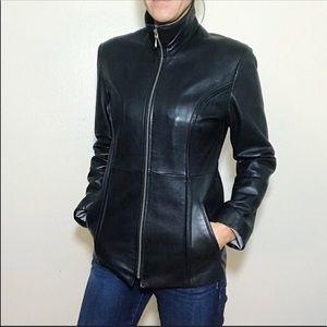 Wilsons Leather Pele Studio Scuba Jacket Black XS